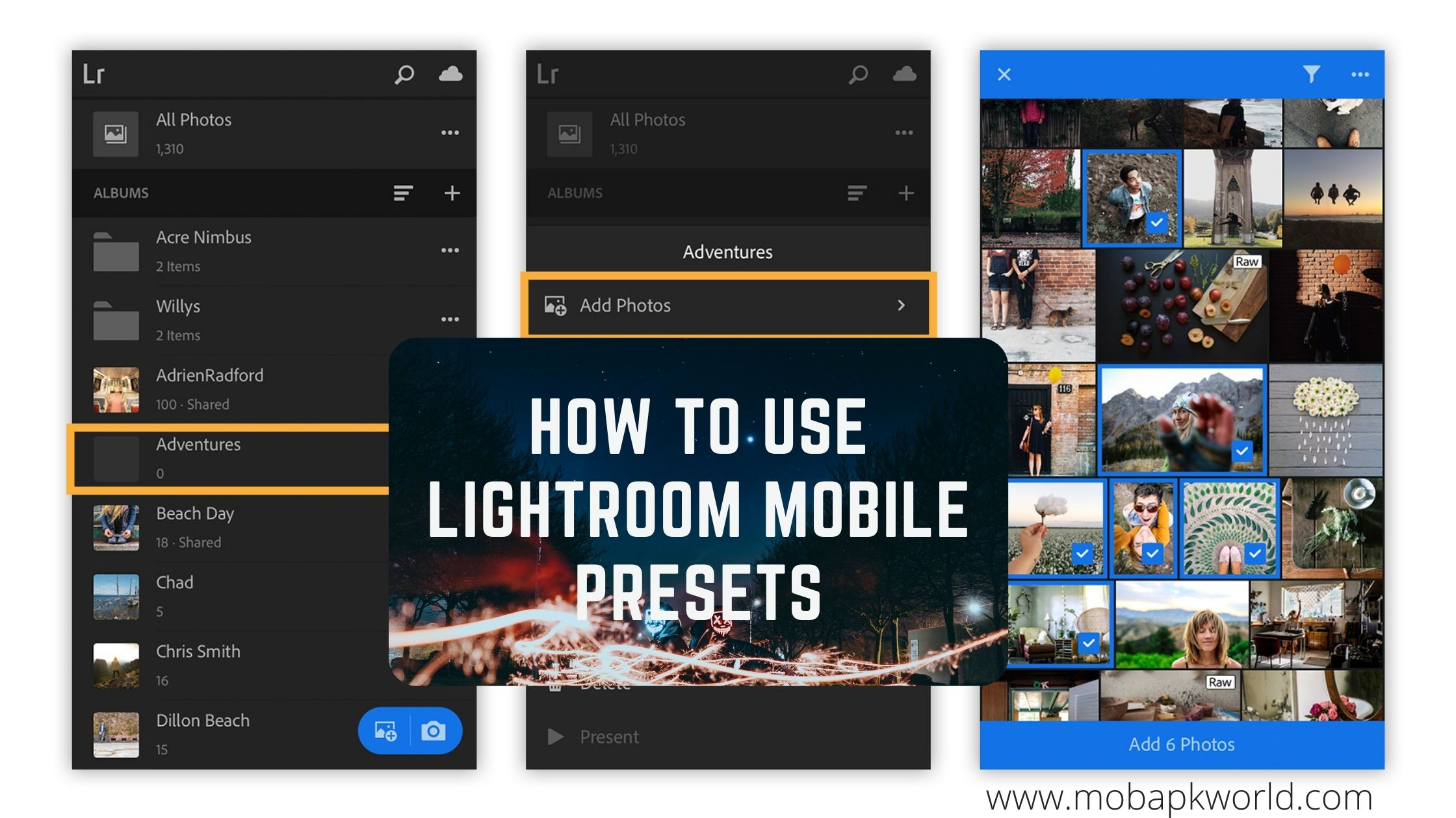 How to Use Lightroom Mobile Presets